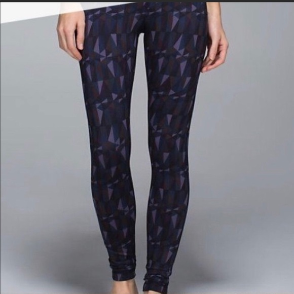bca6cef090 lululemon athletica Pants | Lululemon Wunder Under Geometric Print ...